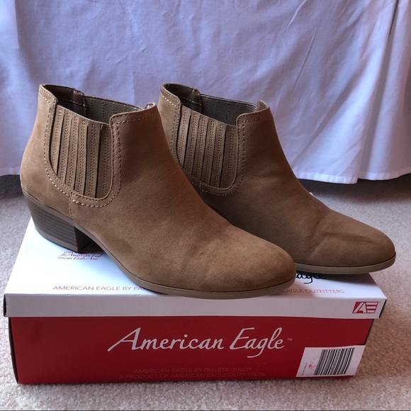 b6cc71757d7 American Eagle By Payless Shoes - American Eagle 11 WIDE Tan Suede Bootie  Ankle Boot
